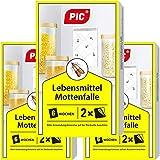 PIC Lebensmittel-Mottenfalle - Dreierpack = 6 Stück - Mittel zur Bekämpfung und Schutz vor Motten in der Küche und Lagerräumen
