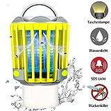 RUNACC Campinglampe LED Laterne Outdoor Wasserdicht IP66 mit 2200mAh Akku, Bug Zapper Mosquito Killer Taschelampe Mückenlampe Insektenvernichter Insektenfänger Moskitolampe